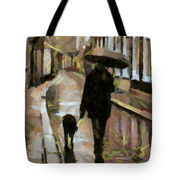 The Rainy Walk Tote Bag by Dragica  Micki Fortuna