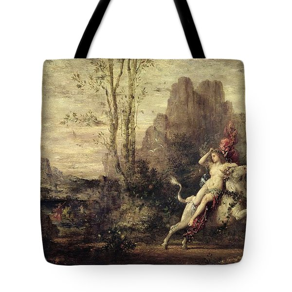 The Rape Of Europa Tote Bag by Gustave Moreau