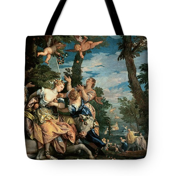The Rape Of Europa Tote Bag by Veronese
