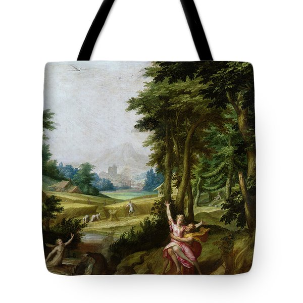 The Rape Of Persephone Oil On Canvas Tote Bag
