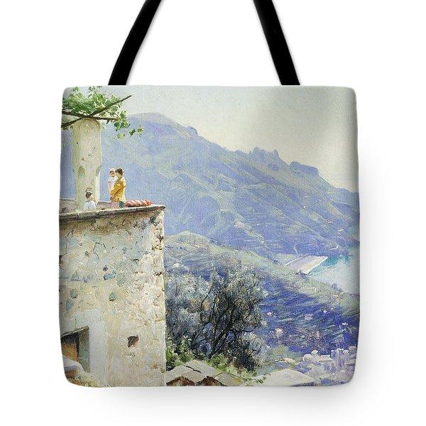 The Ravello Coastline Tote Bag by Peder Monsted