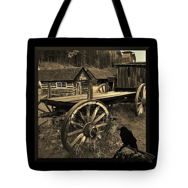 The Raven Flies Straight Tote Bag