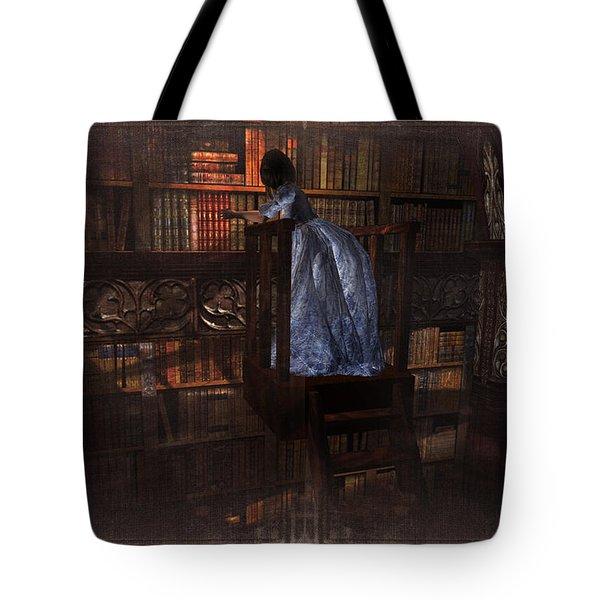 Tote Bag featuring the digital art The Reader 07013101 - By Kylie Sabra by Kylie Sabra