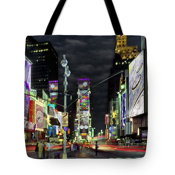 The Real Time Square Tote Bag by Mike McGlothlen
