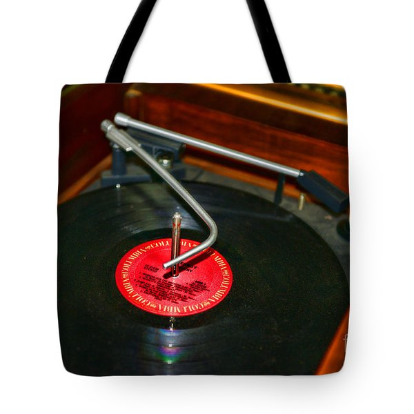 The Record Player Tote Bag by Paul Ward
