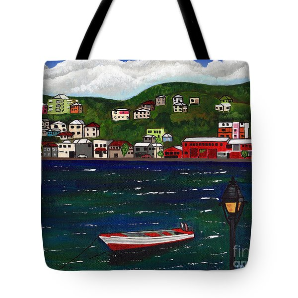 The Red And White Fishing Boat Carenage Grenada Tote Bag