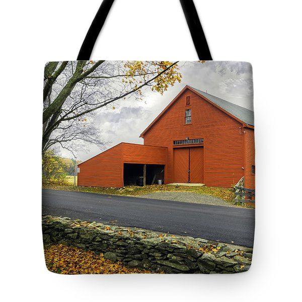 The Red Barn At The John Greenleaf Whittier Birthplace Tote Bag