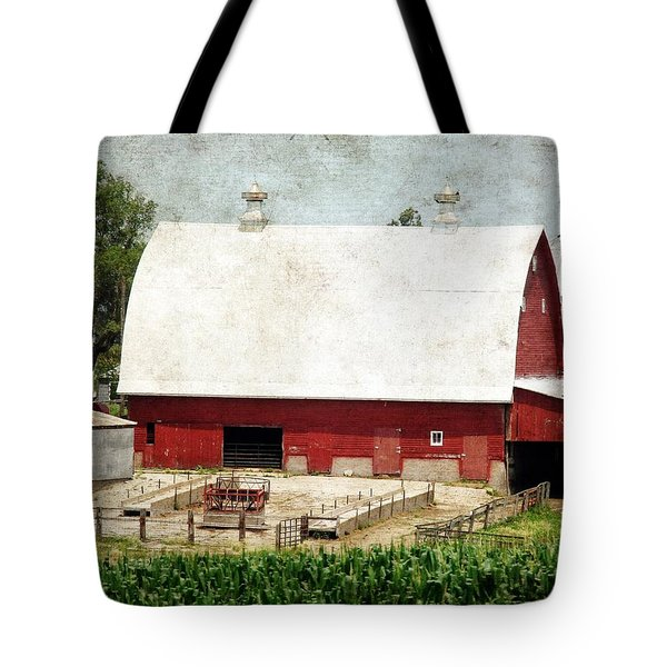 The Red Barn Tote Bag by Cassie Peters