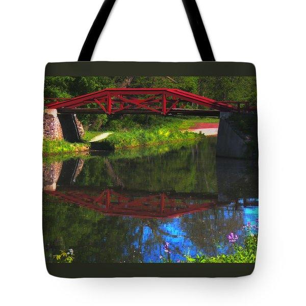 The Red Bridge Tote Bag