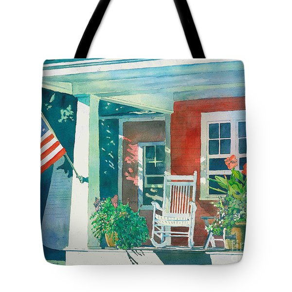 The Red Cottage Tote Bag