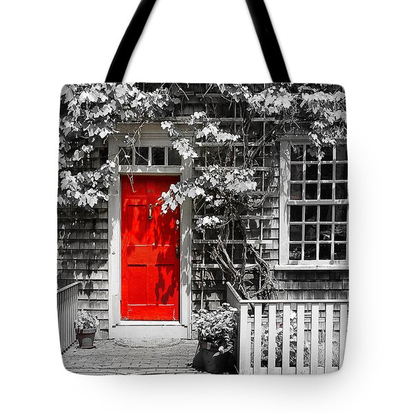 The Red Door Tote Bag by Sabine Jacobs