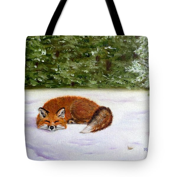 The Red Fox Of Winter Tote Bag