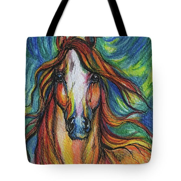 The Red Horse Tote Bag by Angel  Tarantella