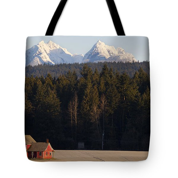 The Red House Tote Bag by Chris Dutton