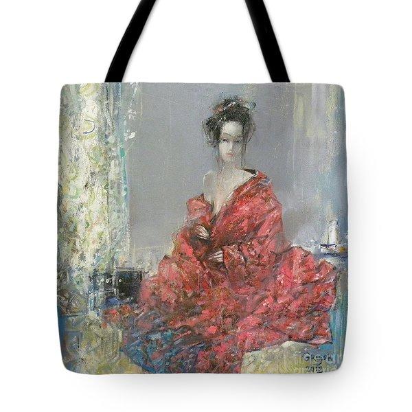 The Red Kimono Tote Bag