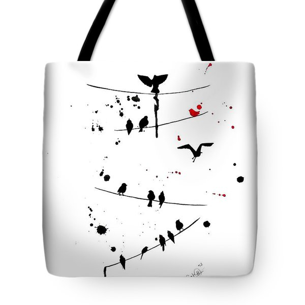 The Red Tote Bag by Oddball Art Co by Lizzy Love