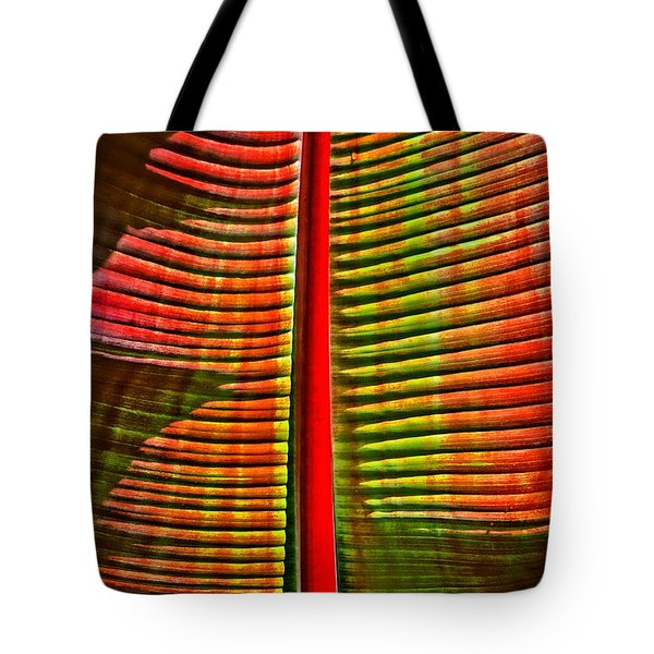 The Red Palm Tote Bag by Joseph J Stevens