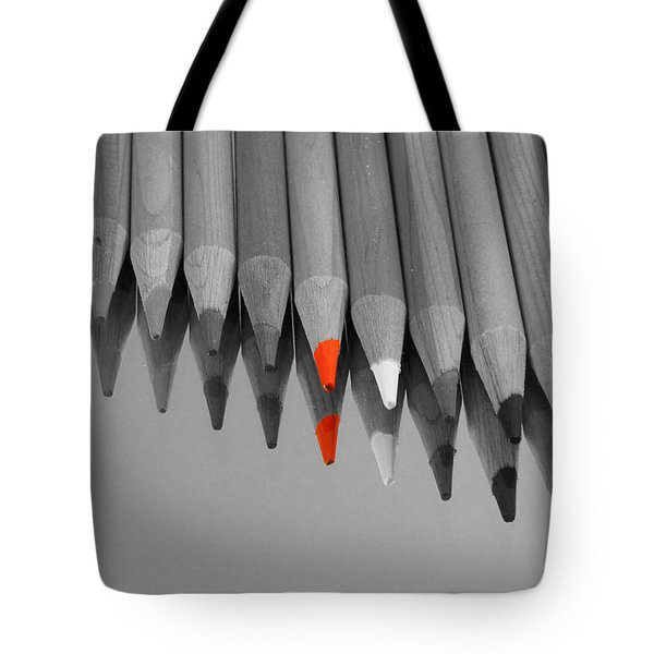 The Red Pencil Tote Bag by Kathy Churchman