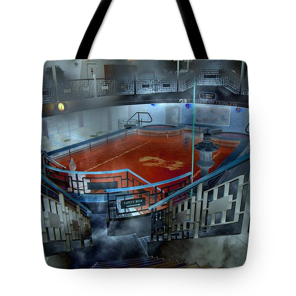 The Red Pool Tote Bag by Betsy Knapp