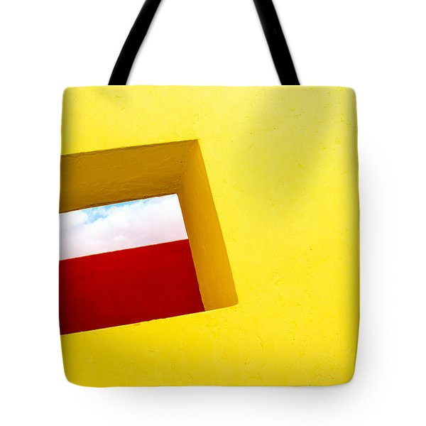 the Red Rectangle Tote Bag