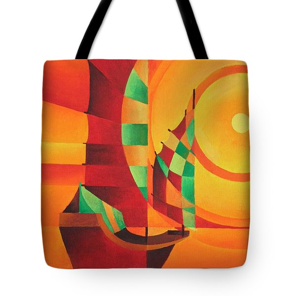 Tote Bag featuring the painting The Red Sea by Tracey Harrington-Simpson