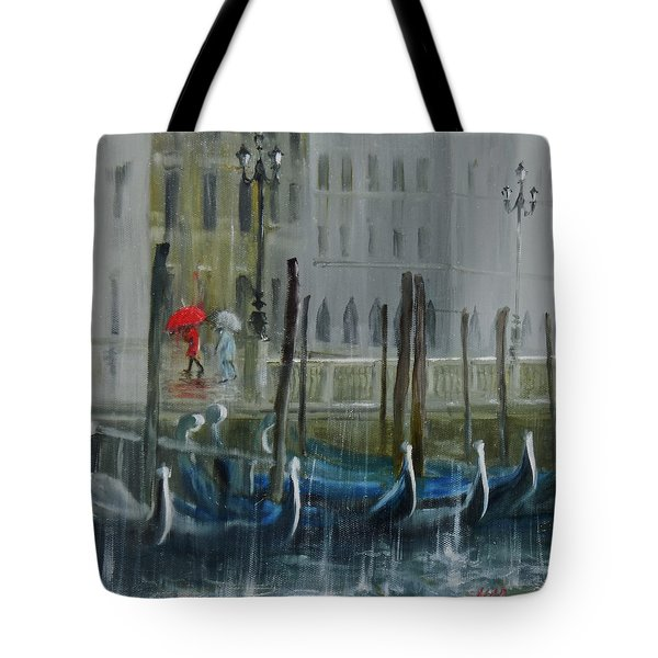 The Red Umbrella Tote Bag