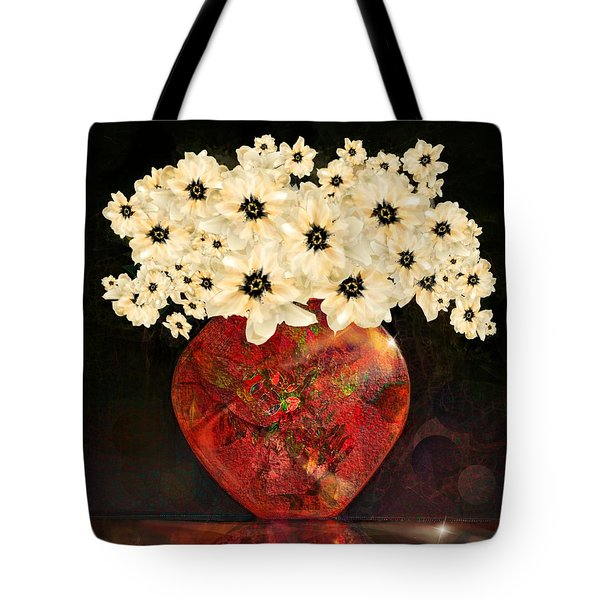 The Red Vase Tote Bag