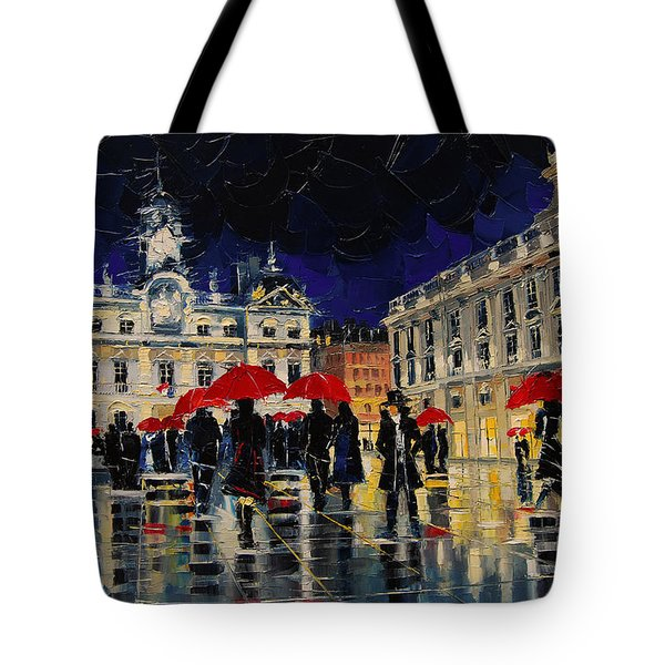 The Rendezvous Of Terreaux Square In Lyon Tote Bag
