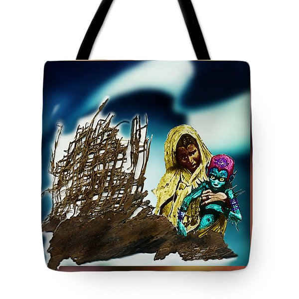 Tote Bag featuring the photograph The Rescued  Alien  Child by Hartmut Jager