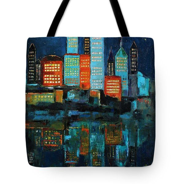 The Restless Moon Tote Bag by Becky Kim