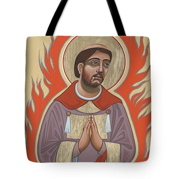 Tote Bag featuring the painting The Retablo Of San Lorenzo Del Fuego 253 by William Hart McNichols