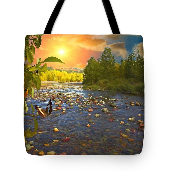 The Riches Of Life Tote Bag by Liane Wright