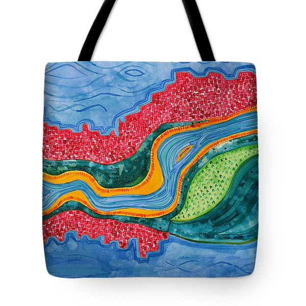 The Riffles Original Painting Tote Bag
