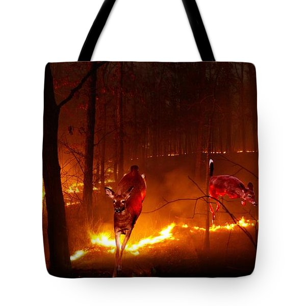The Ring Of Fire Tote Bag by Bill Stephens