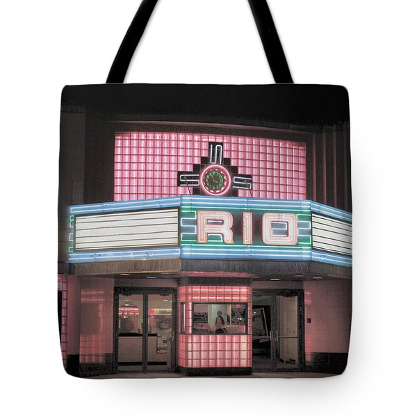 The Rio At Night Tote Bag by Lynn Sprowl