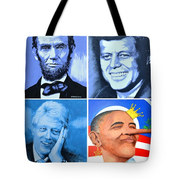 The Rise And The Fall Of America Tote Bag