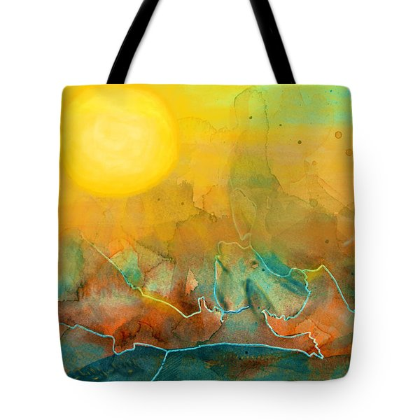 The Rising Sun Tote Bag by Sandi OReilly