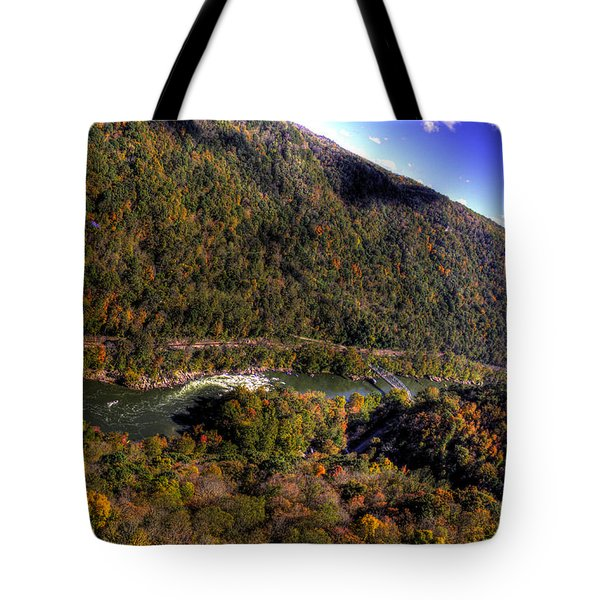 The River Below Tote Bag by Jonny D