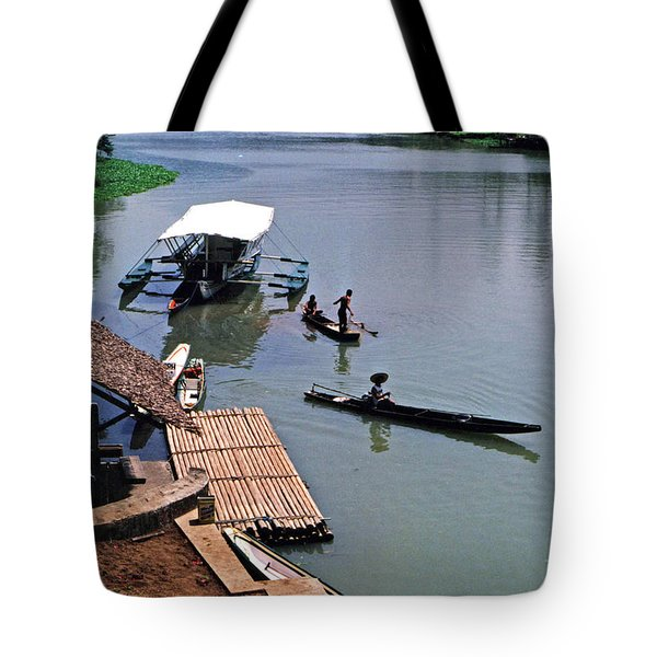 Tote Bag featuring the photograph The River Leading To Pagsanjan Falls In The Philippines by Jim Fitzpatrick