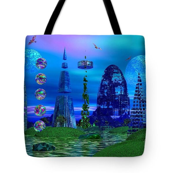 The River Quinque Tote Bag by Mark Blauhoefer