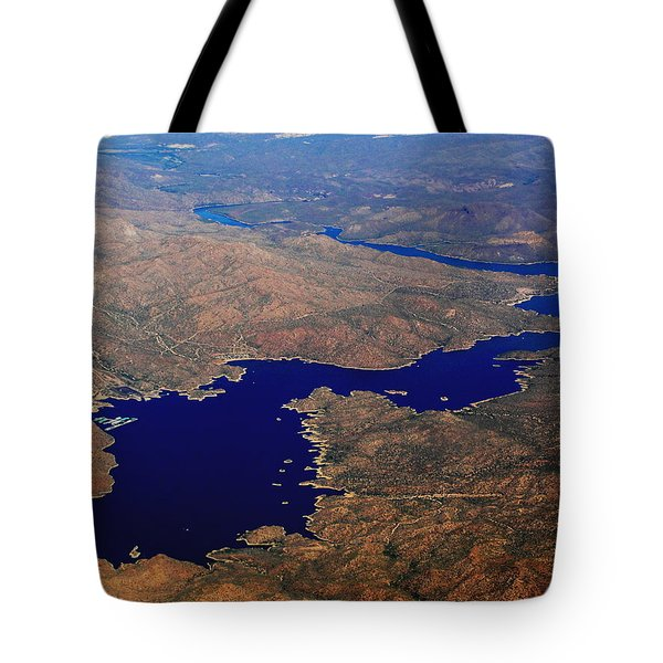 Tote Bag featuring the photograph The River Winds by Natalie Ortiz