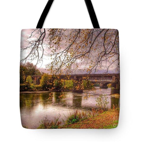 The Riverside At Avenham Park Tote Bag
