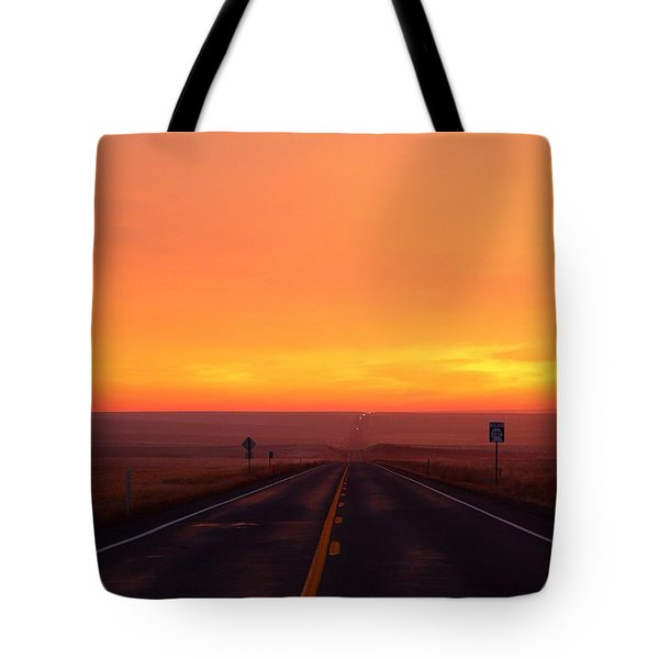 Tote Bag featuring the photograph The Road Goes On And On by Lynn Hopwood