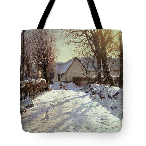 The Road Home Tote Bag by Peder Monsted