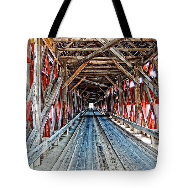 Tote Bag featuring the photograph The Road Less Traveled by Bianca Nadeau