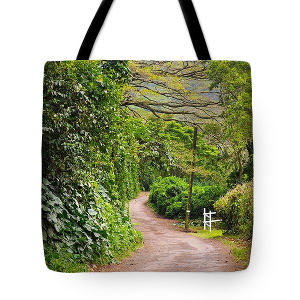 The Road Less Traveled Tote Bag by Denise Bird