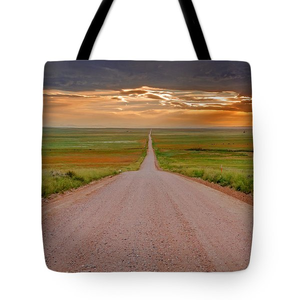 The Road Less Traveled Tote Bag by Teri Virbickis