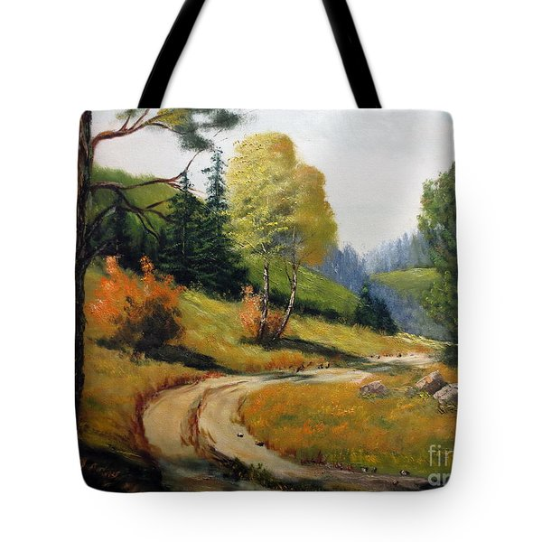 The Road Not Taken Tote Bag by Lee Piper