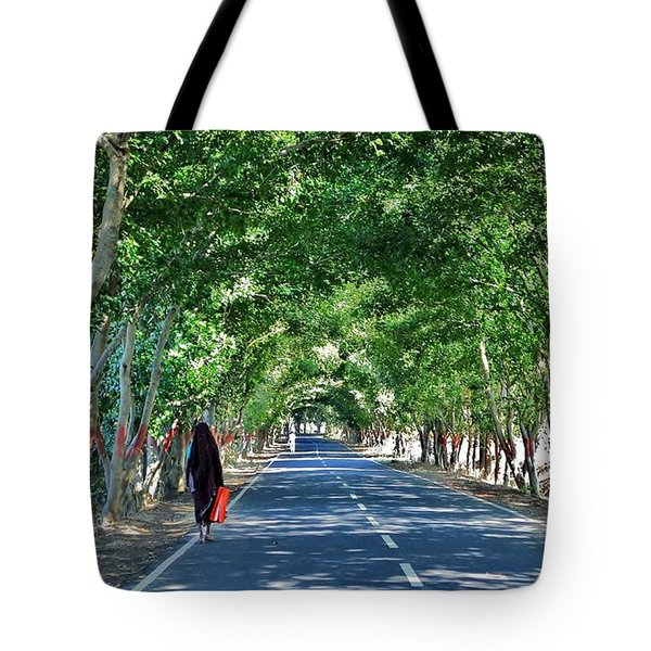 The Road To Amarkantak - Amarkantak India Tote Bag by Kim Bemis