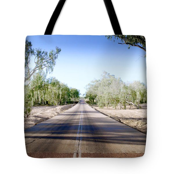 The Road To Back Of Beyond Tote Bag by Holly Kempe